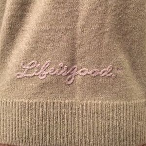 "Life is Good Sweaters - Green Wool ""Life is Good"" Zip Cardigan - S"