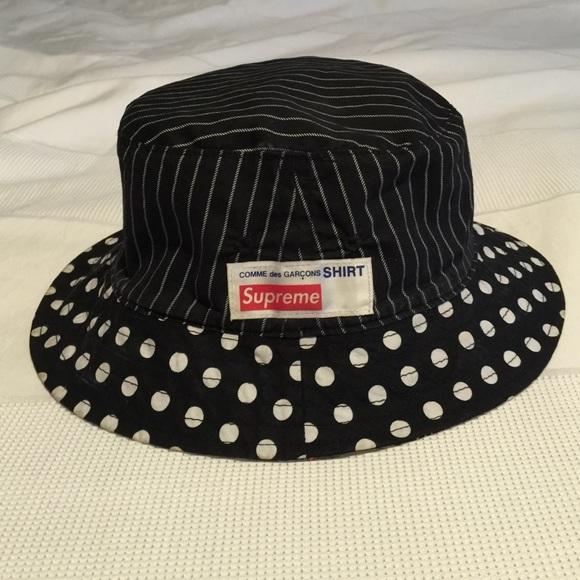 Supreme x Comme des Garçons reversible bucket hat.  M 566f417701985e64ea068ff0. Other Accessories ... d28e95d765c6