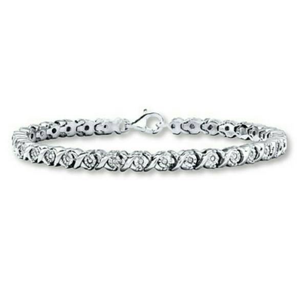 Kay Jewelers Infinity Believe Sterling Silver Bracelet BC2GJP0I