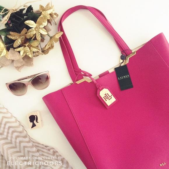 283e5bf29409 ... Ralph Lauren bright rose tote bag. M 5670354b15c8af04a2079b70