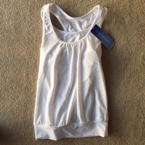 NWT white racer back sports bra and tank top