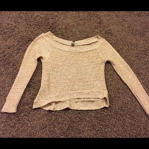 Small crop top sweater