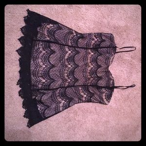 Cute black and light pink lace top