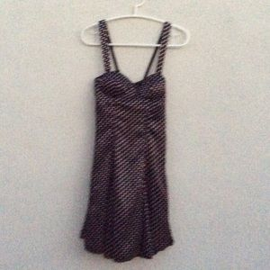 Silky polka doted party dress