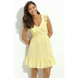 Dresses & Skirts - Yellow ruffle pin dot country dress