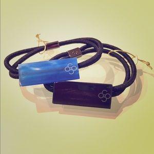 Colette Malouf Acrylic Pony / Bracelet, Black
