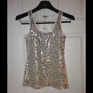 Express Sequin Tank Top size xs