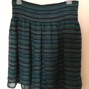 Old Navy Striped High Waisted Skirt