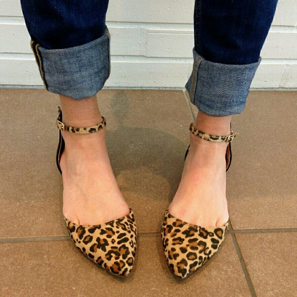 Leopard Flats With Ankle Straps | Poshmark