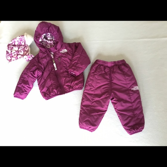 3e7891099 North Face Girls Perrito Jacket, Snow pants & Hat