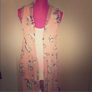 Tops - Floral Kimono Duster