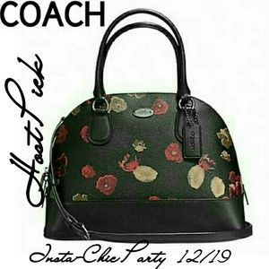 COACH LARGE CORA DOME SATCHEL