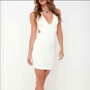 NWOT White Cut-out Dress