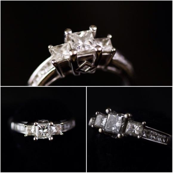 e6103d3c3 Kay Jewelers Jewelry | 3 Stone Princess Cut Diamond Engagement Ring ...