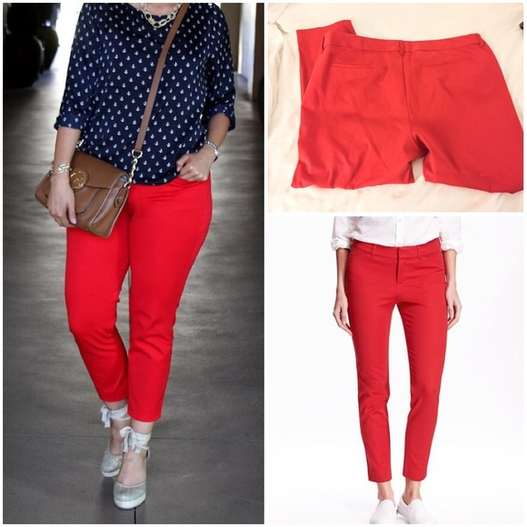 41% off Old Navy Pants - EUC Red Pixie Pants, Plus Size 20 from ...