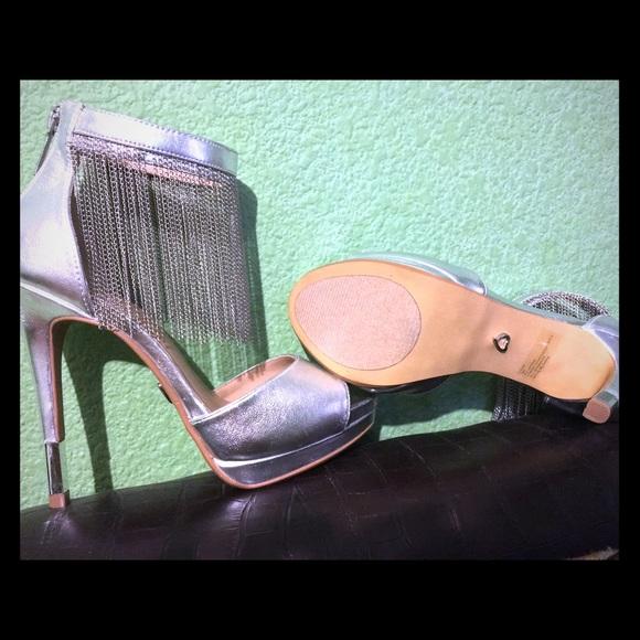 Thalia Sodi silver high heels from Macy's. NWT