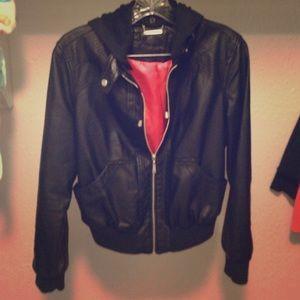Jackets & Blazers - Black and pink jacket