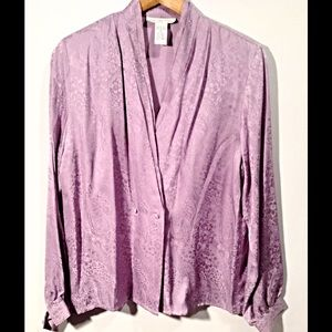 Anna and Frank Tops - Vintage Lilac Paisley Silk Blouse