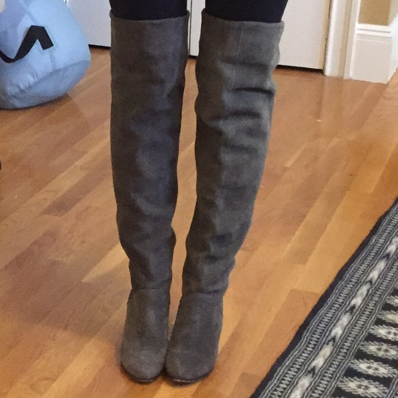 a2fa2a8ecf8 Dolce Vita Shoes - Over the knee grey suede boots 🎉HP 2 10🎉