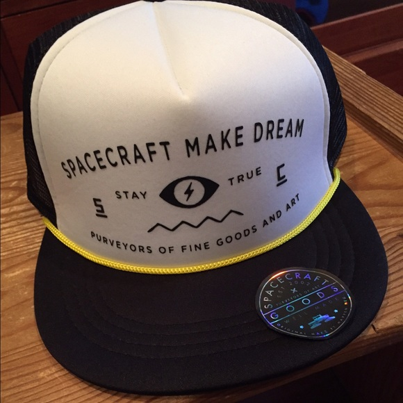 3e1c11ae Spacecraft Accessories   New Stay True White Trucker Snapback Hat ...