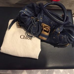 Chloe paddington navy blue satchel