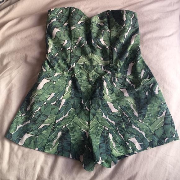 384e91cc31c H M Dresses   Skirts - Palm Leaves Romper Jumpsuit