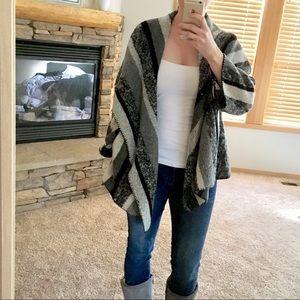 Zara Trafaluc Striped Wool Sweater