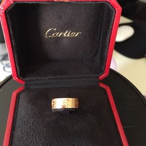 Authentic Cartier Love Collection Rose Gold Ring