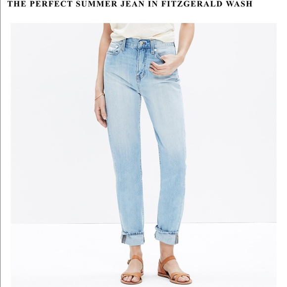 73a6d663e3a2 Madewell Denim - Madewell perfect summer Jean in Fitzgerald wash