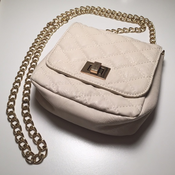 3721bdb7e5f ALDO Handbags - Cream Quilted Mini Bag by Aldo