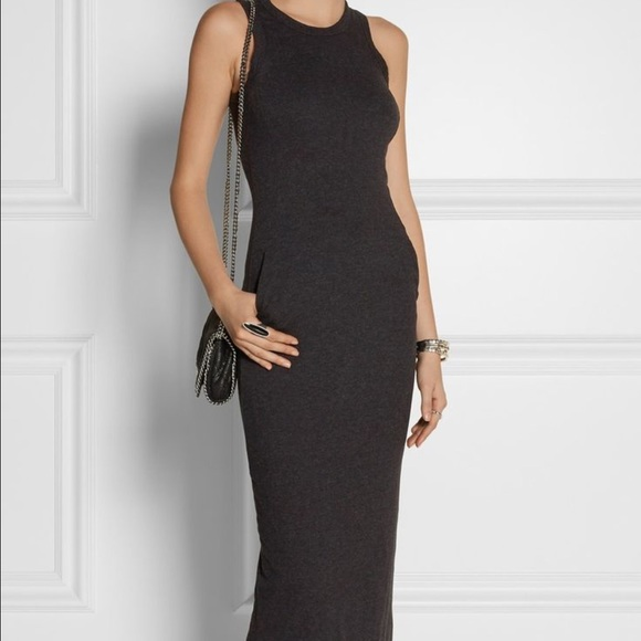 cb3dc7dc3f8 James Perse Dresses & Skirts - James Perse grey Jersey stretch maxi dress