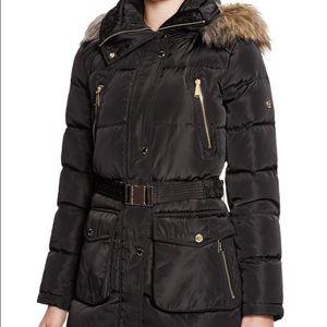 Michael Kors Faux Fur Down Coat