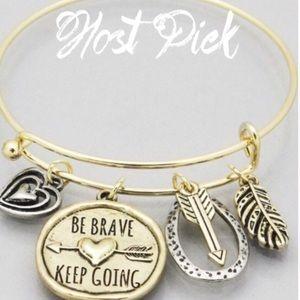 Jewelry - Be Brave Keep Going Arrow bracelet