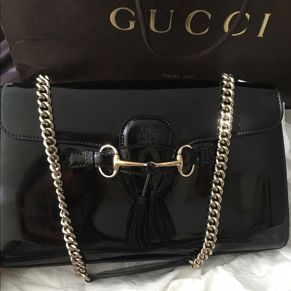 9ddd62dcaec6 Gucci Bags | Emily Ssima Patent Leather Shoulder Bag | Poshmark