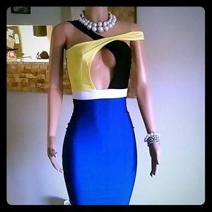 Dresses & Skirts - Color Block Party Dress