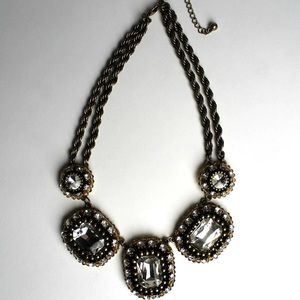 "The ""Mona"" Rhinestone Statement Necklace"