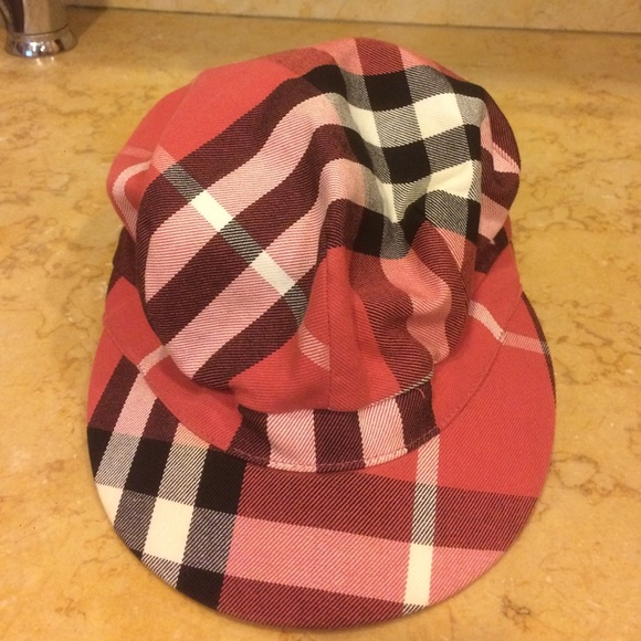05935aee6ae Burberry Accessories - Red plaid Burberry hat