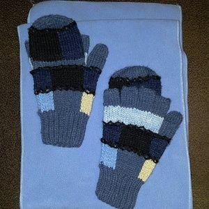 New Handmade 100% Island Alpaca Hand-knit Glittens