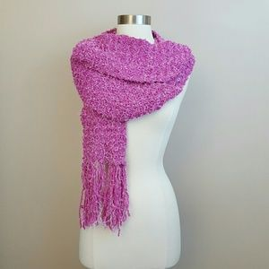 Accessories - Long two-tone pink fuzzy scarf