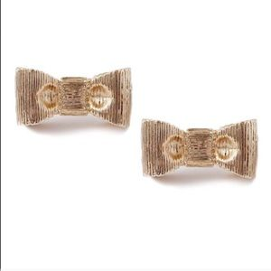 FINAL PRICE DROP Gold bow studs
