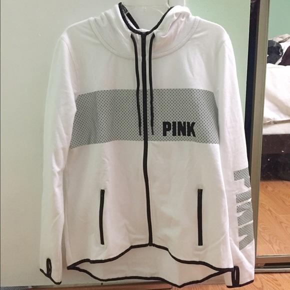 a5b98db1b0303 VS Pink white reflective logo full zip