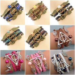 🏵Harry Potter Owl/Snitch/Deathly Hallows Bracelet