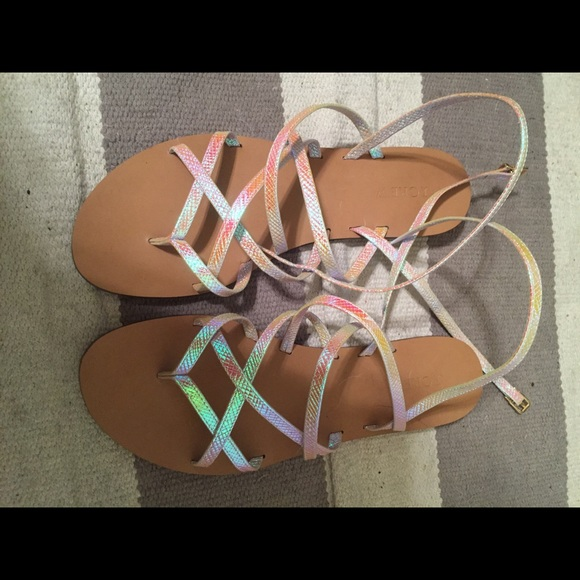 ac5f1ac64d1d J. Crew Shoes - J. Crew Clara Iridescent Gladiator Sandals NEW