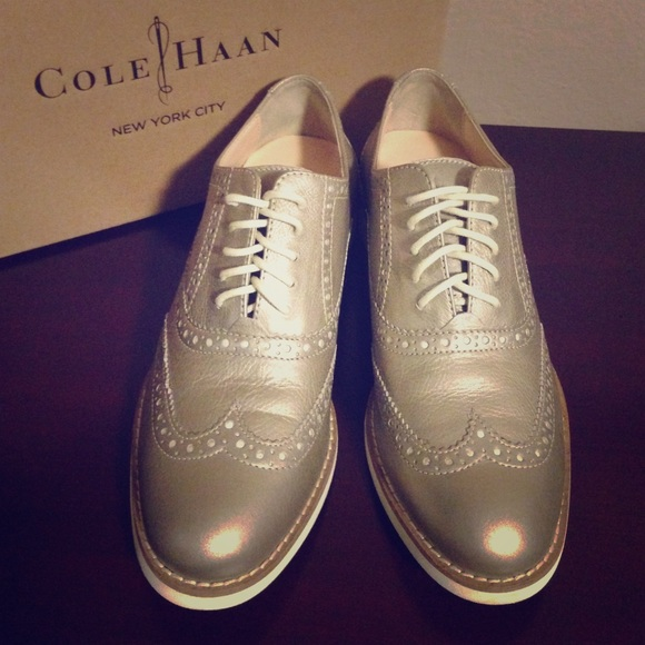Cole Haan Shoes | New Metallic Shimmer