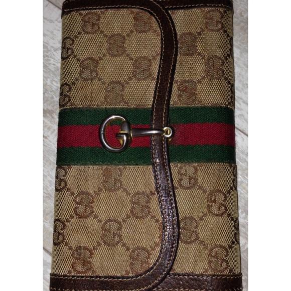 6539b32a8ab43e Gucci Bags | Vintage Horsebit 60s 70s Gg Stripe Wallet | Poshmark