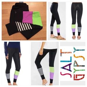 Without Walls Pants - Salt Gypsy Striped Fanta Surf Legging