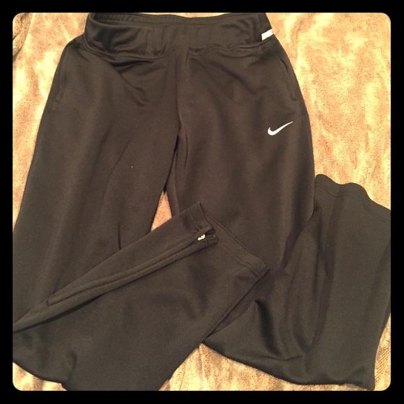 nike pants zipper bottom