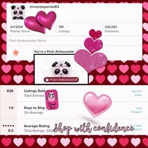 5⭐️on 555 Sales🐼💗Thank You Very Much💗🐼