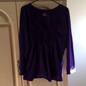 Lane Bryant Tops - Purple v neck cotton top