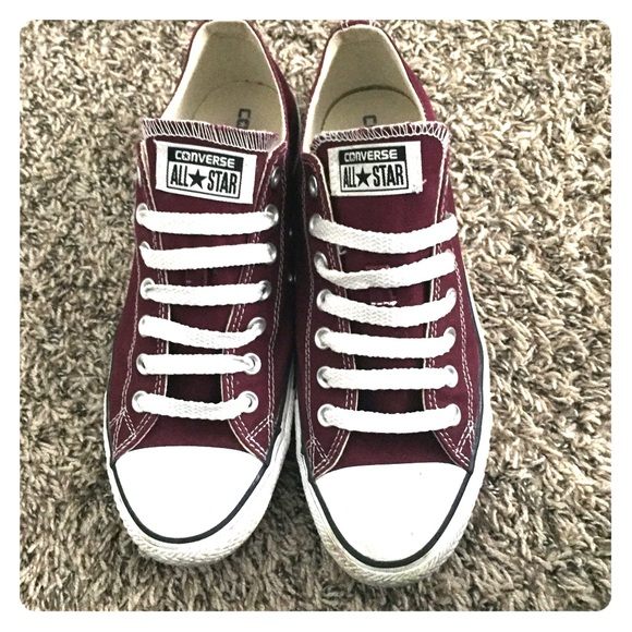 d4bee6cb91b5 Converse Shoes - Chuck Taylor Converse Burgundy Low Tops